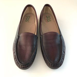 SAS Shoes Loafers Maroon Leather